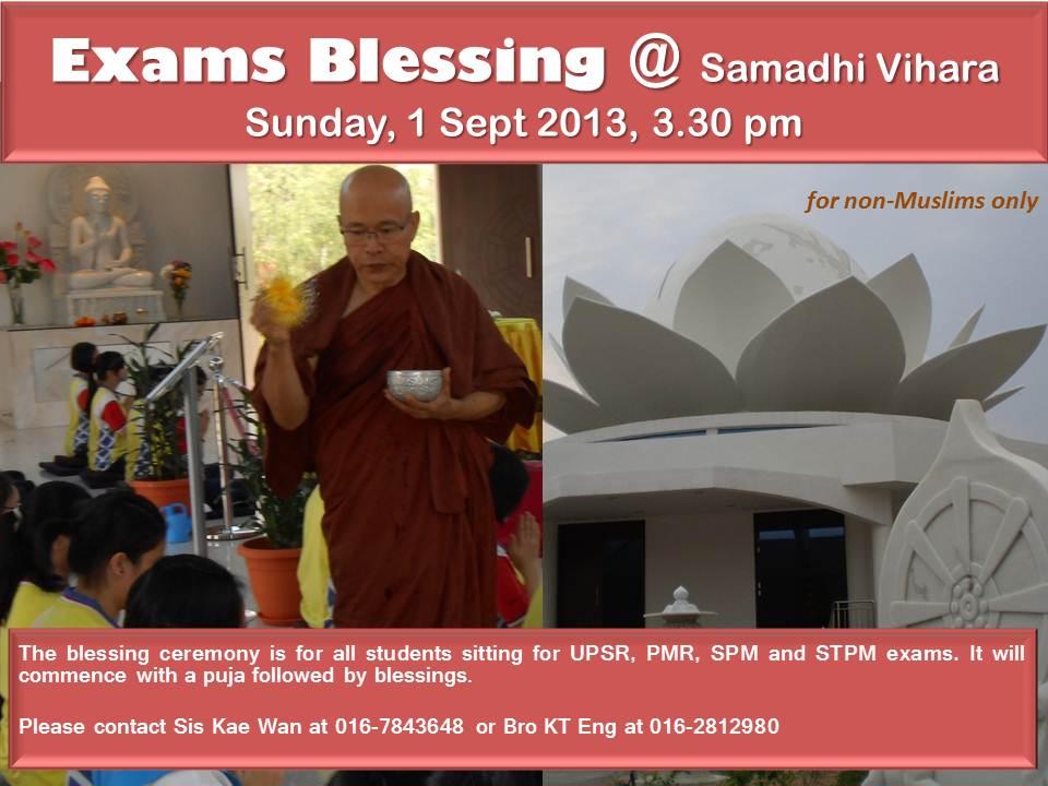 Exams Blessing @ Samadhi Vihara