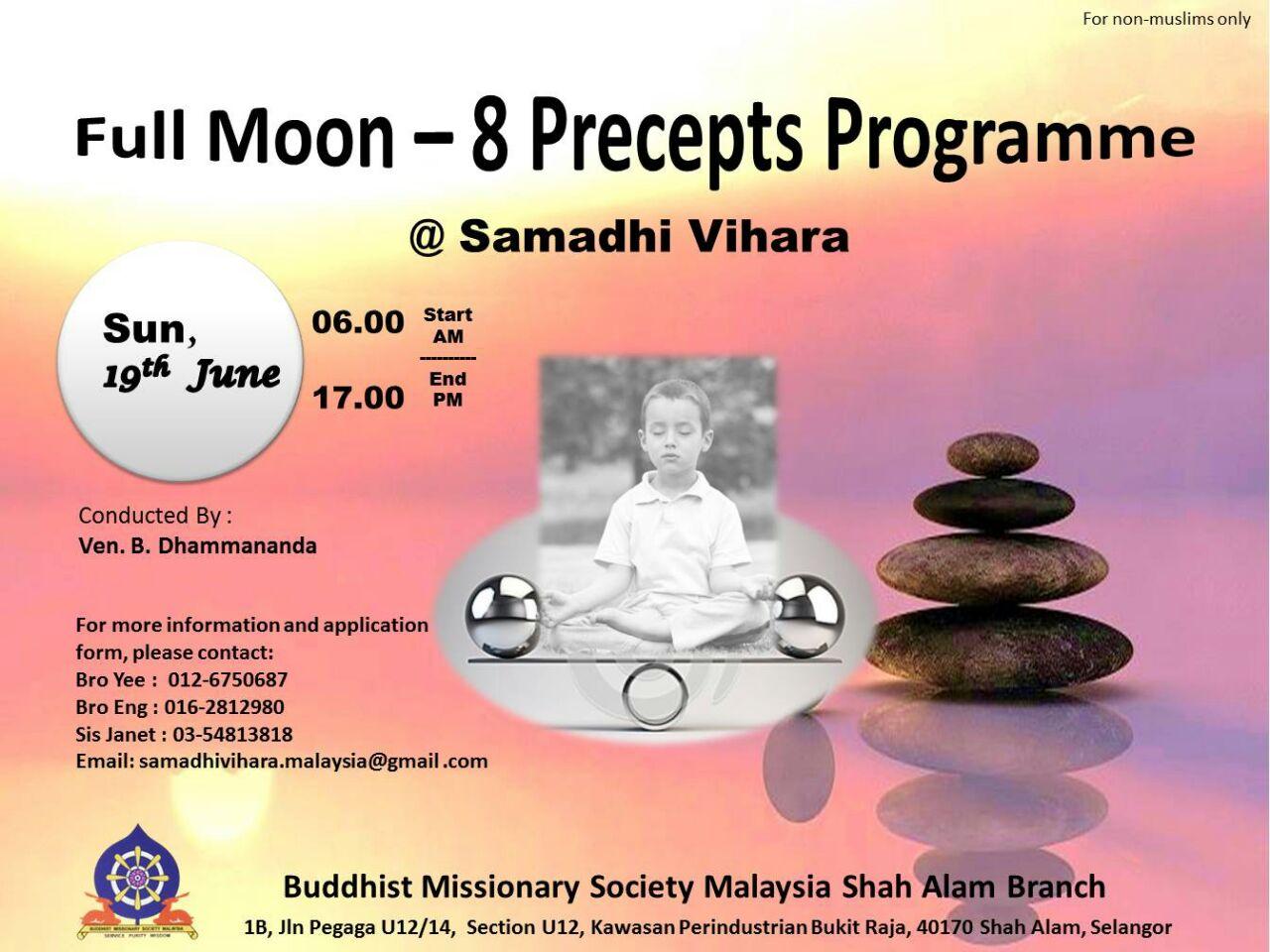 8 Precepts, 19 June 2016 (Sunday)